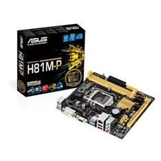 Placa Base Asus Intel H81m-p Socket 1150 Ddr3x2 1600mhz 16gb Dvi-d  Matx H81M-P