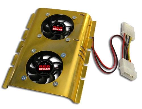 Ventilador Doble Con Disipador Para Disco Duro 3.5 Pulgadas Pulgadas Interno Del Pc HD-510S-06