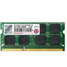 Memoria Portatil Ddr3 8gb 1333 Mhz Pc10600 Transcend JM1333KSH-8G