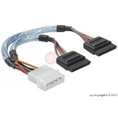 Cable De Alimentacion Corriente 2 Hdd  /  Disco Duro Serial Sata K-SATA2ALIM