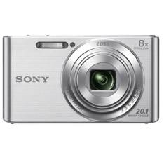 Kit Camara Digital Sony Kw830s 20.1mp Zo 8x Video Hd Plata  +  Funda  +  Sd 8gb KW830SBGSFDI