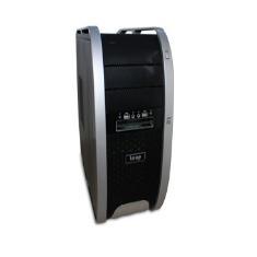 Caja Ordenador Semitorre Atx Loop Lp- 3806  Gaming  2 Usb Hd Audio. Negro Y Plateado Sin Fuente LP-3