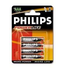 Blister Philips Cuatro Pilas Aaa Alcalina Lr03 1.5v Powerilife LR03PB4C/10