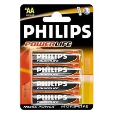 Blister Philips Cuatro Pilas Aa Alcalinas Lr6 Powerilife 1.5v LR6PB4C/10