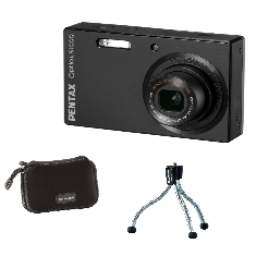 "CAMARA DIGITAL PENTAX LS1100 NEGRA 14MP ZO X 4 +KIT SD 2GB + FUNDA + TRIPODE LCD 3"" LITIO"