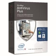 Antivirus Mcafee Antivirus Plus 2016 Multidispositivos Ilimitados MAV16SNR9RAA