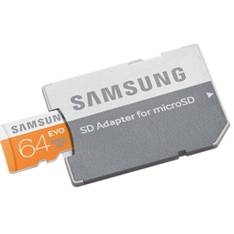 Tarjeta Memoria Micro Secure Digital Samsung Mb-mp64d /  Evo /  64gb /  Clase 10 /  Adaptador MB-MP6