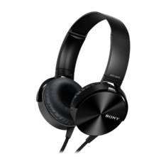Auriculares Sony Mdrxb450apb Plegables Carcasa De Aluminio Negro MDRXB450APB