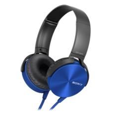 Auriculares Sony Mdrxb450apb Plegables Carcasa De Aluminio Azul MDRXB450APL