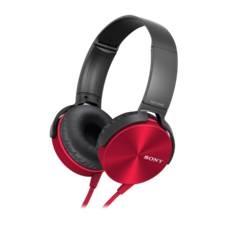Auriculares Sony Mdrxb450apb Plegables Carcasa De Aluminio Rojo MDRXB450APR