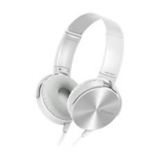 Auriculares Sony Mdrxb450apb Plegables Carcasa De Aluminio Blanco MDRXB450APW
