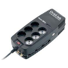Regulador De Voltaje 1200va 6 Schuko NEONMP61200