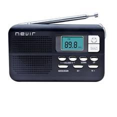 Radio Nevir Digital De Bolsillo Sintonizadora Alarma Reloj Negro Con Correa De Mano NVR-127DNEGRO