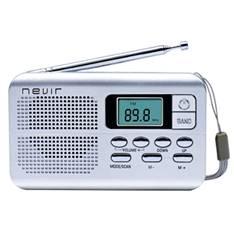 Radio Nevir Digital De Bolsillo Sintonizadora Alarma Reloj Plata Con Correa De Mano NVR-127DPLATA