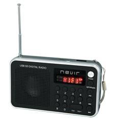 Radio Nevir Digital De Bolsillo Sintonizadora Lector Microsd Plata Con Correa De Mano NVR-129DUCPLAT