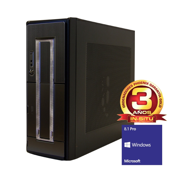 Ordenador De Oficina Phoenix Oberon Pro Intel Core I3, 4gb Ddr3, 500gb, Rw , W8.1pro OBERON-2315WPRO