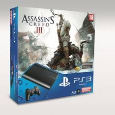 Consola Sony  Ps3 Slim 500gb Nueva  +   Assassin`s Creed Iii PACKPS3AC