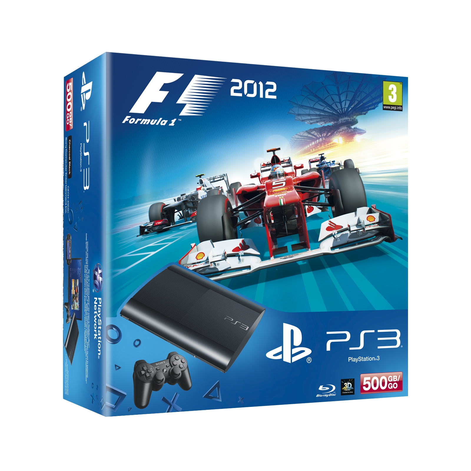 Consola Ps3 Slim 500gb Nueva  +   Formula 1 2012 PACKPS3F1