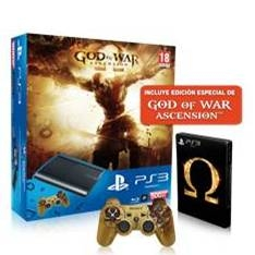 Consola Sony Ps3 500gb  +  God Of War Ascension Edicion Especial  +  Dualshock3 Gow PACKPS3GOW
