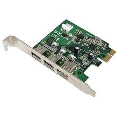 Tarjeta Pci Express 2 Firewire 1394 800 Mbps  + 1 400 Mbps PEX1394B3