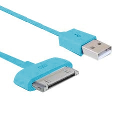 Cable De Carga Y Sincronizacion Phoenix Para Dispositivos Apple Iphone Ipad 1.5m Turquesa PHDATACHAR