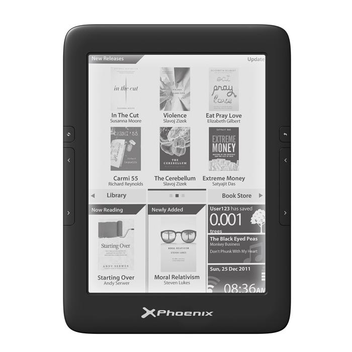 Libro Electronico Ereader  /   Ebook Phoenix Phfirefly Con Luz  6 Pulgadas Tinta Electronica  E-ink
