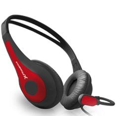 Auriculares Con Microfono Phoenix Free Talk. Rojo PHFREETALKR