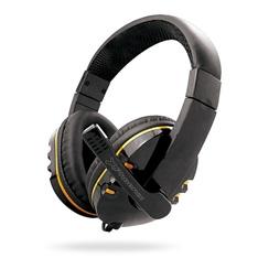 Auriculares Con Micrófono Phoenix Hydra Negro Y Amarillo PHHYDRA