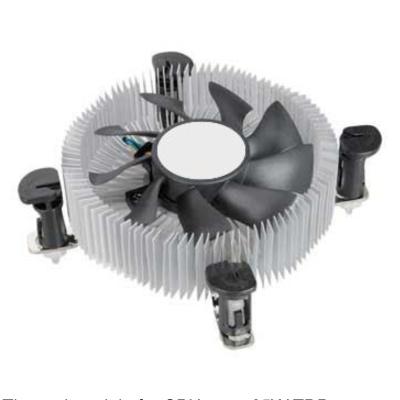 Ventilador Tipo Bajo Perfil Para Caja Mini 12v  Modelo Intel Lga 1156 PHVENTILADORBP