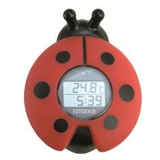 Termometro Baño Bebes Rimax Rb321 Baby Care  /  Timer  /  Rojo Y Negro RB321