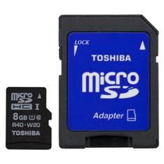 Tarjeta Memoria Micro Secure Digital Sd 8gb Toshiba Uhs-i C10 Con Adaptador SD-C008UHS1(BL5A