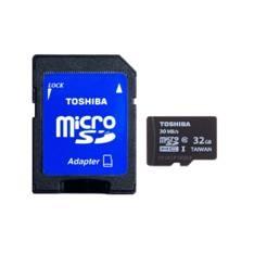 Tarjeta Memoria Micro Secure Digital Sd 32gb Uhs-1 Clase 10 Toshiba Con Adaptador SD-C032UHS1(6A