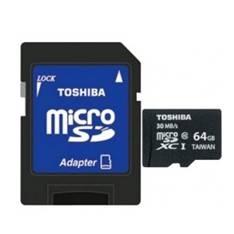 Tarjeta Memoria Micro Secure Digital Sd 64gb Uhs-1 Clase 10 Toshiba Con Adaptador SD-C064UHS1(6A