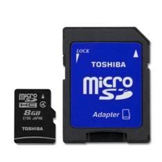 Tarjeta Memoria Micro Secure Digital Sdhc 8gb Clase 4 Toshiba Con Adaptador SD-C08GJ(6A