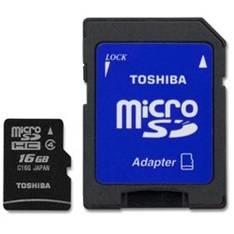 Tarjeta Memoria Micro Secure Digital Sdhc 16gb Clase 4 Toshiba Con Adaptador SD-C16GJ(6A
