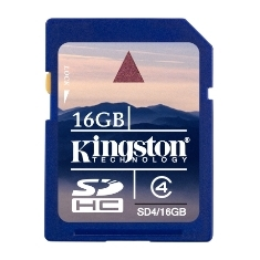 Tarjeta Memoria Secure Digital Sd Hc 16gb Kingston SD4/16GB