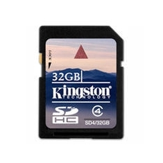Tarjeta Memoria Secure Digital Sd Hc 32gb Kingston SD4/32GB