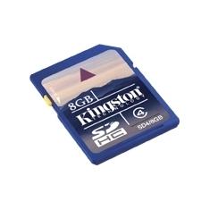 Tarjeta Memoria Secure Digital Sd Hc 8gb Kingston SD4/8GB