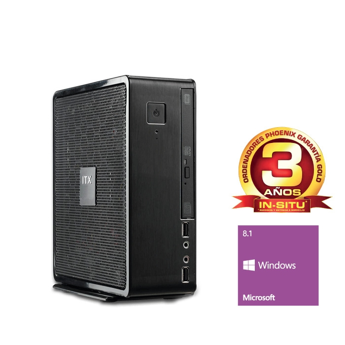 Ordenador Phoenix Smart Intel Celeron, 4gb Ddr3, 1tb, Rw,  W8.1 SMART2-1515W