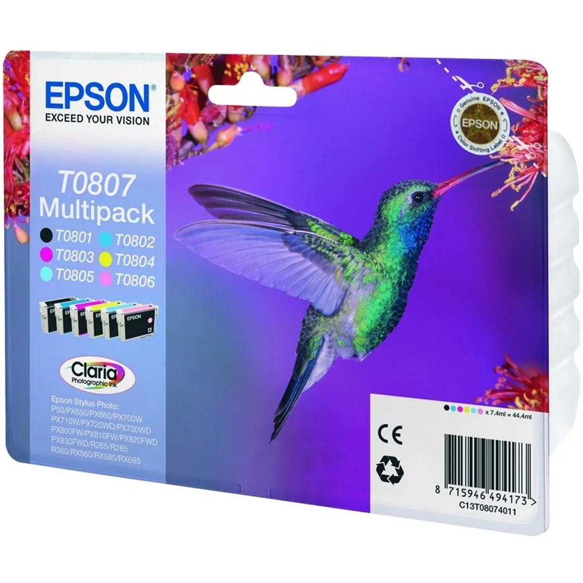 MULTIPACK TINTA EPSON T08074 T080140+240+340+440 +540+640
