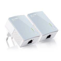 Pack X2 Adaptadores De Red Linea Electrica 500mbps Power Line Tp-link TL-PA411KIT
