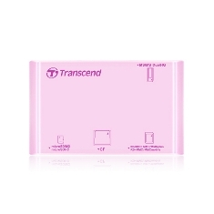 Lector Tarjetas Memoria Transcend Usb 2.0 Externo Rosa Soporta Sdhc TS-RDP8R