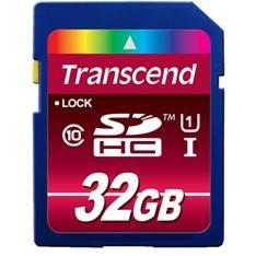 Tarjeta  Memoria Secure Digital Uhs-i 32gb Transcend Ultrarapida Para Camaras Y Videocamaras TS32GSD