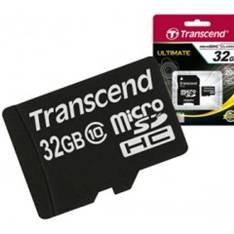Tarjeta Memoria Micro Secure Digital Sd 32gb Transcend Clase 10 TS32GUSDHC10