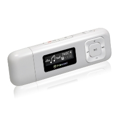 Reproductor Mp3 Transcend 8gb  +  Fm T.sonic 330 , Blanco TS8GMP330