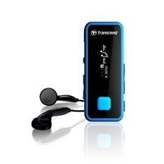 Reproductor Mp3 Transcend Finess 8gb  +  Fm T.sonic 350 Con Pinza Negro  /  Azul TS8GMP350B