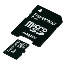 Tarjeta Memoria Micro Secure Digital Sd Hc 8gb Clase 10 300x Premium Adaptador Sd Transcend TS8GUSDU