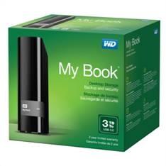Disco Duro Externo Hdd Wd My Book 3tb , Usb 3.0, Negro, Mac Pc WDBFJK0030HBK-EESN