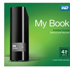 Disco Duro Externo Hdd Wd My Book 4tb , Usb 3.0, Negro, Mac Pc WDBFJK0040HBK