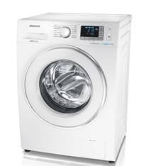 Lavadora Samsung Ecobubble 8kg 1400 Rpm A +  +  +  Blanco Cristal Touch 12 Programas WF80F5EDW4W/EC